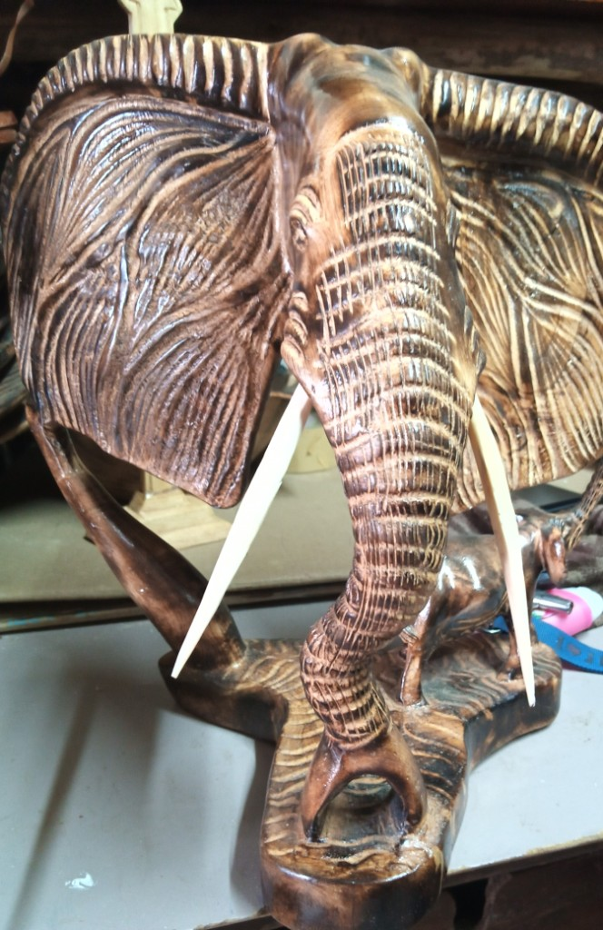 elephant head antique carving