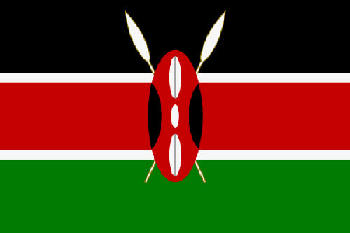 Nairobi Tourist Attractions, Masai Mara National Park - Kenya Flag